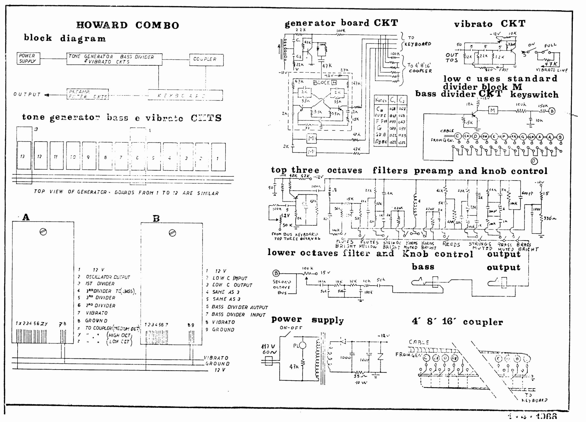 Vox Continental Schematic Great Installation Of Wiring Diagram Circuit Schematics Rh Combo Organ Com Cry Baby Ii